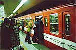 Rush hour on Shinjuku subway station, Tokyo, Japan