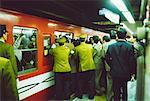 Rush hour at Shinjuku subway station, Tokyo, Japan