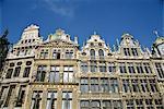 Buildings on La Grand Place, UNESCO World Heritage site, Brussels (Bruxelles), Belgium, Europe