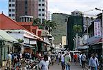 Street scene, Farquhar Street, Port Louis, Mauritius, Indian Ocean, Africa