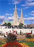 Chartres cathédrale, patrimoine mondial UNESCO, Chartres, Eure-et-Loir, France, Europe