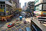 Scène de rue, Nathan Road, Mongkok, Kowloon, Hong Kong, Chine, Asie
