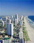 Vue aérienne de Surfers Paradise, Gold Coast, Queensland, Australie