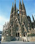 The Sagrada Familia, the Gaudi cathedral in Barcelona, Cataluna, Spain, Europe