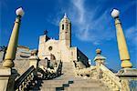 Église de front de mer, Sitges, Costa Dorada (Costa Daurada), Catalogne, Espagne, Europe