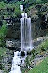 Waterfall in the Ordesa valley, Ordesa National Park, Huesca, Pyrenees, Aragon, Spain, Europe