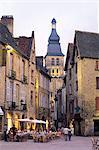 Soirée à la Place de la Liberte, Sarlat-la-Canéda, Dordogne, Aquitaine, France-Europe