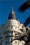 Le célèbre hôtel Carlton Cannes, Alpes-Maritimes, Côte d'Azur, Provence, France, Europe