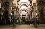 Interior of the Mezquita (Great Mosque), UNESCO World Heritage Site, Cordoba, Andalucia, Spain, Europe