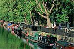 Canal and houseboats, Little Venice, London, England, United Kingdom, Europe