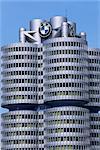 Siège de BMW, Munich, Bavière, Allemagne, Europe