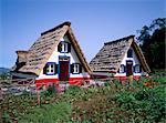 Traditional houses at Santana, Madeira, Portugal, Europe