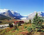 Athabasca Glacier, champ de glace Columbia, Parc National Jasper, montagnes Rocheuses, Alberta, Canada