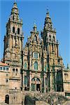 The Cathedral of Santiago de Compostela, UNESCO World Heritage Site, Galicia, Spain, Europe