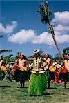 Hula dance, Waikiki, Hawaii, Hawaiian Islands, Pacific, United States of America, North America