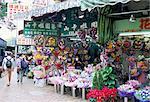 Marché aux fleurs, Mong Kok, Kowloon, Hong Kong, Chine, Asie