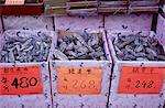 Séché boutique de fruits de mer, Des Voeux Road West, Hong Kong Island, Hong Kong, Chine, Asie