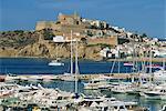 Ibiza Town skyline and marina, Ibiza, Balearic Islands, Spain, Mediterranean, Europe