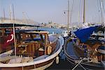 Le port, Asie, Asie mineure, l'Anatolie, Turquie, Bodrum