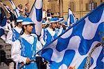 Medieval parade, Siena, Tuscany, Italy, Europe