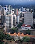 Aerial view over Nairobi, Kenya, East Africa, Africa