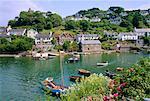 Noss Mayo, côte sud, Devon, Angleterre, RU