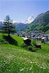 Zermatt et le Mont Cervin, Valais (Wallis), Alpes suisses, Suisse, Europe