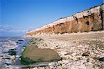 Début ou fin de The Wash, Hunstanton Cliffs, Norfolk, Angleterre, Royaume-Uni, Europe