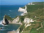Côte près de Lulworth, Dorset, Angleterre, Royaume-Uni, Europe