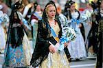 Procession of Falleros, Las Fallas fiesta, Valencia, Spain, Europe