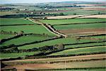 Fields near St. Austell, Cornwall, England, United Kingdom, Europe
