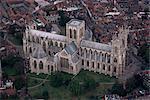 Luftbild des York Minster, York, Yorkshire, England, Vereinigtes Königreich, Europa