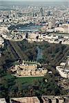 Luftbild einschließlich Buckingham Palace, London, England, Vereinigtes Königreich, Europa