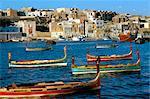 Port de bateaux à la Valette, Malte, Méditerranée, Europe