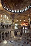 Interior of the Santa Sofia Mosque, originally a Byzantine church, UNESCO World Heritage Site, Istanbul, Turkey, Europe