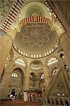 Interior of the Selimiye Mosque at Edirne, Anatolia, Turkey, Asia Minor, Eurasia