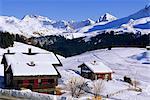 Ski resort, Arosa, Grisons région des Alpes suisses, Suisse, Europe