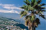 Nord côte et le mont Teide, Tenerife, des îles Canaries, Espagne, Atlantique, Europe