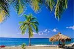 La plage de Anse Chastenet, Sainte-Lucie, Caraïbes, Antilles