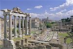 View across the Roman Forum, Rome, Lazio, Italy, Europe
