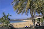 The beach at Playa Blanca, Lanzarote, Canary Islands, Atlantic, Spain, Europe