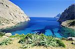 La baie près de Puerto Pollensa, Majorque (Majorque), îles Baléares, Espagne, Europe
