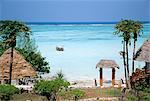 Indian Ocean from the Ras Nungwi Beach Hotel, Zanzibar, Tanzania, East Africa, Africa