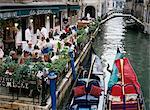 Canalside restaurant, Venice, Veneto, Italy, Europe