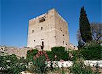 Château de Kolossi, construit par les Chevaliers de Saint Jean en 1454, près de Limassol, Chypre, Europe