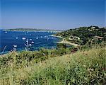 Cap St. Pierre and Baie des Canebiers, Cote d'Azur, Mediterranean coast, Provence, France, Europe