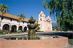 Old Mission, Santa Barbara, California, United States of America, North America