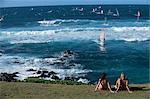 Planche à voile à plage de Kahului, Maui, Hawaii, Hawaii, océan Pacifique, États-Unis d'Amérique (États-Unis d'Amérique), Amérique du Nord