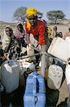 Water in Somali refugee camp, Ziziga, Ethiopia, Africa