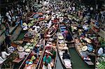 Près de Bangkok, Thaïlande, Asie du sud-est, l'Asie, le marche flottant